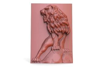león cnc 4 león cnc Arte alivio bas relief deco pared madera
