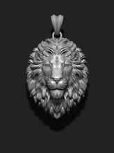 lion pendant closed mouth jewellery pendant gold silver jewel lion nature zbrush mesh necklace tiger jewelry enamel angry roaring lioness africa wild animal closed