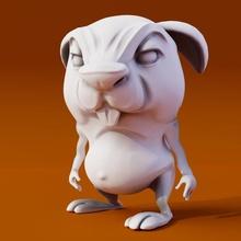 lucas maldoso 3 poses 3d impressão modelo personagem Coelho Coelho desenho animado animal estanque 3d impressão fofa engraçado modelo jogos brinquedos quadrinho inchado fofo figura