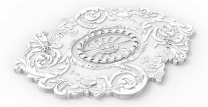 mah - moulure q03 free 3d 3dmodel 3dprint printabe frame art panel stl moulure download model bedding ceiling architecture interior element architectural