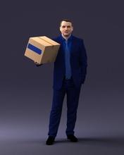 uomo scatola 0627 3d Stampa pronto 3d scansione modello poligono 3dprint umano maschio realistico poste carattere miniature uomo donna bambino stile successo moda bellezza