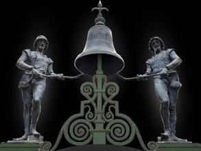 mikez jakez architecture trieste italy sculpture statue art monument realtime lowpoly city ue4 unity normals architectural bronze automaton clock body element metal