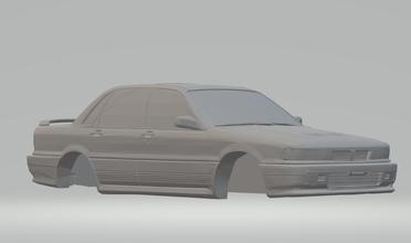 Mitsubishi galant 87 diecast hotwheels scx rádio controle tamya imprimível carro quente fenda slotcar carros caça níqueis buse treinador
