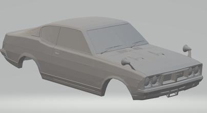 Mitsubishi galant gto hotwheels diecast scx fenda carro slotcar stl imprimível rcmodel corpo raça Ferrari lemans comício gt p1