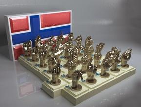 norwegian deaf alphabet 3d print model deaf dump education fingers hand hands language letter norway norwegian
