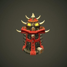 orc tower tower games stylized towerdefense orc dota2 lowpoly hand-painted gameasset
