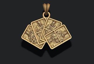çift krallar oynama kartları kolye kriko kraliçe kral kart poker kumarhane oyun araba kart kard elmas emaye mücevher altın gümüş takı kolye kürek kulüp