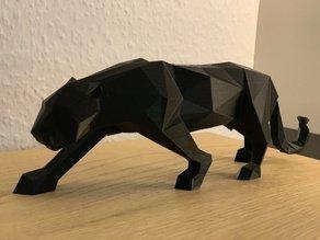 panther origami panter dekorasyon güzel Japon kağıt katlama sanatı karartma