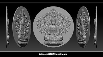 pingente Buda stl obj ztl 3dmodel arte escultura estátua Buda stl bodhisattva bas relief pingente joalheria budismo bodhidharma escultura deusa misericórdia Budha