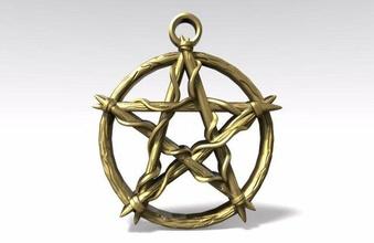 pentagram knot pendant pentagram knot celtic pendant jewelry jewel magic art