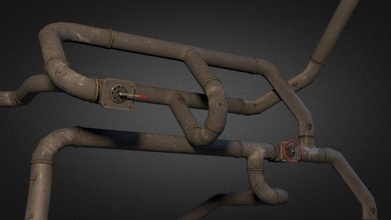 pipe pack 01 game object enviroment props pipe electricity pipes pipeline fuse power unit  games vent models
