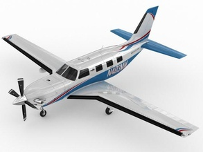 piper meridian piper malibu meridian aircraft turboprop propeller pa-46-500tp pa-46 pa 46 light m-class single engine v-ray mental ray realistic detailed taxi