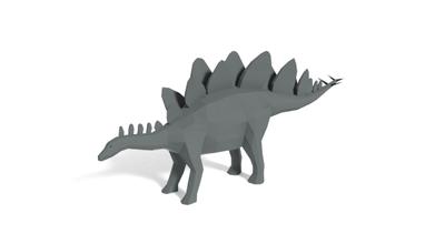 poly cartoon stegosaurus dinosaur  poly cartoon stegosaurus dinosaur prehistoric jurrasic wild nature bc art artwork animals low-poly lowpoly