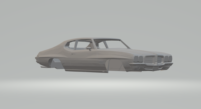 pontiac lemans 1971 hotwheels diecast scx slot car slotcar race stl printable gm pontiac vauxhall monaro holden gto