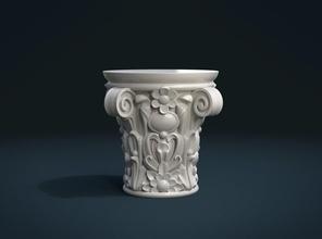 listo para imprimir capital el capitel columna decoración el barroco ornamento orgánica vidas de piedra interior el botánico tallada capital capitel