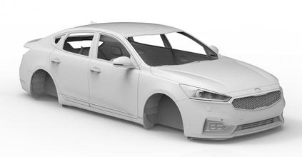 prt car 02 3d 3dmodel cg juego coche vehiculo vehículo obj stl cuerpo 3dprint imprimible automóvil 2017 kia