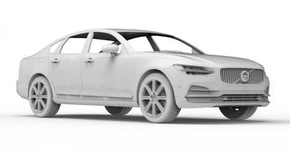 prt car 05 3d 3dmodel cg juego coche vehiculo vehículo obj stl cuerpo 3dprint imprimible automóvil 2017 volvo