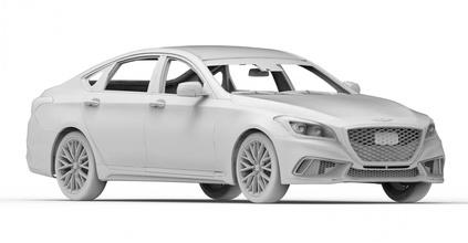 prt car 06 3d 3dmodel cg juego coche vehiculo vehículo obj stl cuerpo 3dprint imprimible automóvil 2018 génesis