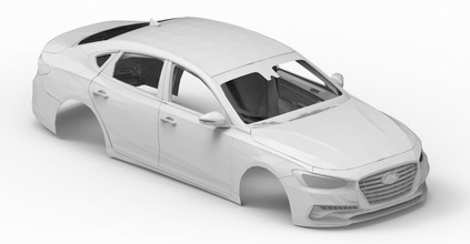 prt car 07 3d 3dmodel cg juego coche vehiculo vehículo obj stl cuerpo 3dprint imprimible automóvil 2018 Hyundai