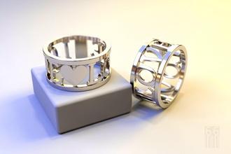 ring heart inscription love jewelry jewel gold silver ring heart love stl obj cnc printing print printable fashion style inscription text wax metal