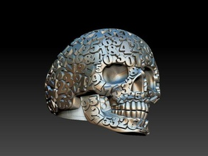 ring numbers ring jewelery gold silver jewelry skull number numbers man skeleton head human teeth art sculptures 3d model male death scull