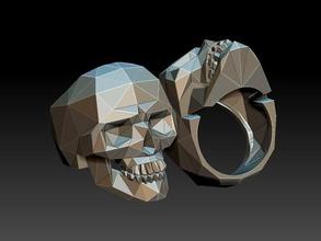 ring skull jewelry biker skull skullring ringskull jewellery rings ring silver printable wedding vintage scull