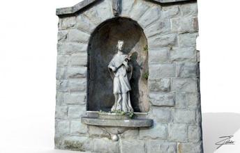 san giovanni nepomuceno architecture trieste italy street saint giovanni nepomuceno stone sculpture statue art monument element realtime niche lowpoly lod ue4 unity normals