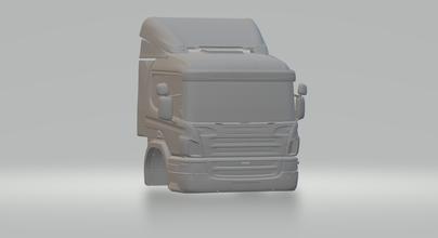 scania hotwheels pressofuso scx fessura macchina slotcar stl stampabile camion camion trasportatore truckmodel