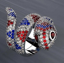 serpent ring diamonds 3d print model gold jewellery ring diamond jewel rings brilliant beauty sapphire serpent animals reptile