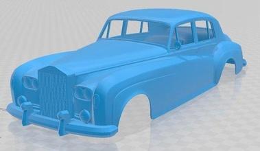 silver cloud iii printable body car silver cloud 1959 printable body car slot scalextric tamiya rc radio control shell
