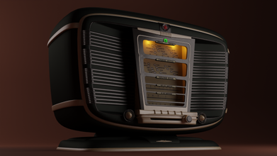 soviet retro radiostation zvezda-54 free radio soviet furniture electronics vintage gadgets gadget  antique high-detailed technology steampunk audio 20th-century
