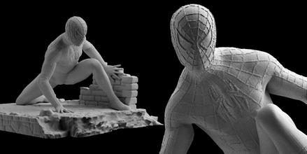 uomo Ragno statua 3d Stampa spider man figura 3d Stampa modello meraviglia uomo Ragno spider man meraviglia comico arte statua 3d print 3dprint 3d printable 3d printed eroe figura
