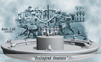 Stalingrad Fontana bambini danza Fontana bambini coccodrillo Stalingrad danza barmaley figurina scultura statua