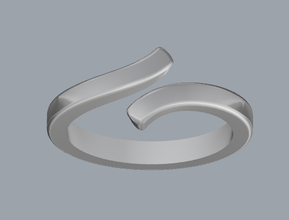 sterling silver bypass ring jewelry ring silver bypassring ringjewelry jewelry rings silverring ringjewellery jewellery 3dmring castingring cadring shapejewelry plainsilverring designerjewelry sterling fashion stl