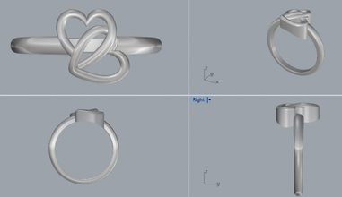 sterling silver double heart ring jewelry silverring ringjewellery jewelry silver jewellery 3dmring castingring cadring shapejewelry designerjewelry engagementring sterling fashion jewel rings heartring doubleheartring lovering plainsilverring printable