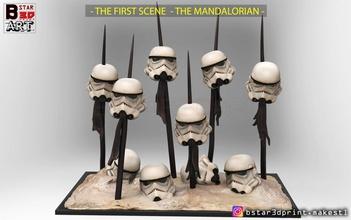 storm trooper 2019 - first scene star war - mandalorian 2019 storm trooper mandalorian star war star-war-2019 storm-trooper-2019 mandalorian-2019 storm-trooper-mask storm-trooper-helmet