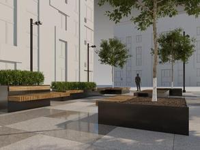 street decor 022 art bench city designs exterior floating landscape modern outdoor park paving promenade slabs stouns streelife street trees urban lamps
