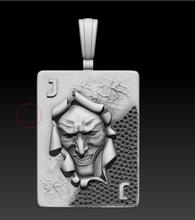 süspansiyon joker kolye takı moda Diamind altın gümüş