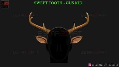 sweet tooth - gus kid cosplay 3d print model horns halloween cosplay animal guskid gus sweettooth sweet tooth toys costumes kid antlers ears deer games