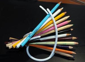 swirly pen holder 3d print printing desk holder lanna office pen pencil pencils pencil-holder pen-holder portamatite portapenne scrivania sergio sergio-lanna stampa swirl swirly