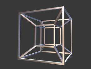 tesseract hypercube tesseract hypercube dimension cube mathematical symbol abstract abstraction sculpture printable decoration 3dprint futuristic math futurism art 3dprintable lowpoly stl blender