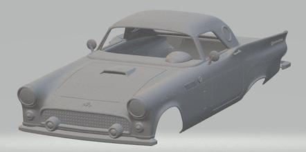 thunderbird 1957 printable body car thunderbird 1957 printable body car rc radio control slot scalextric tamiya american old