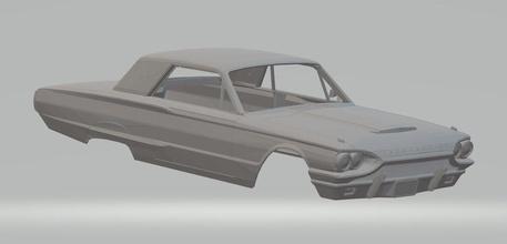 thunderbird 1964 printable body car thunderbird 1964 printable body car slot scalextric 1-32 1-24 1-10 1-16 1-18