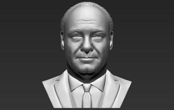 tony soprano bust 3d printing tony soprano bust sopranos mafia gangster godfather al pacino gandolfini corleone vito peaky blinders tommy shelby