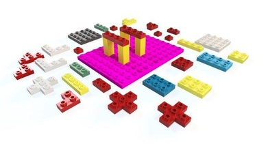 toy blocks game plastic block kids toy lego art brick connection set cube