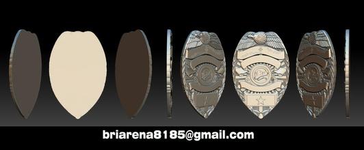 Tucson arizona distintivo 3d Distintivos coleção detetive 3dprintable pulseiras 3d imprimível distintivo Distintivos polícia exército militares multidão controle escudo xerife Policial uniforme legal armas policial
