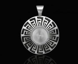 versace tapered shape pendant 3d printable stl pendant pendants gold silver platinum sterling gemstones brilliant women pattern men modern versace texture diamant jewellery