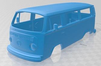 volkswagen transporter t2 1972 printable body van volkswagen transporter t2 printable body van shell rc miniz tamiya  vintage slot scalextric 1972