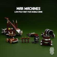 war machines game pack mobile game development  poly 3d blender3d buy assets games