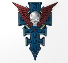 warhammer symbol special powers inquisition 3d print model warhammer 40k pendant jewelry imperium inquisition game 3d printable accessories icon mmorpg